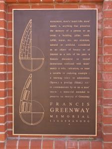 Francis Greenway Memorial Plaque