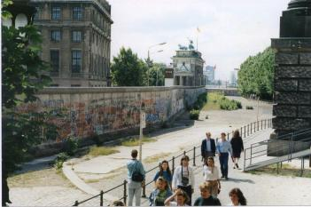 Berlin Wall adjacent to Brandenburg Gate