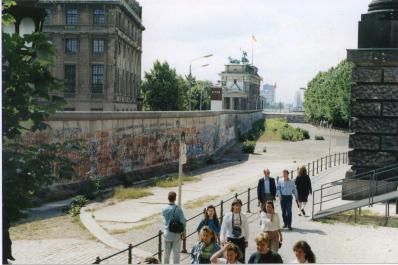 Berlin Wall adjacent to Brandenburg Gate