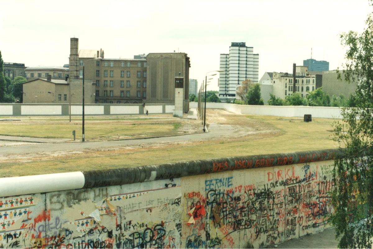Berlin Wall looking across the Death Strip