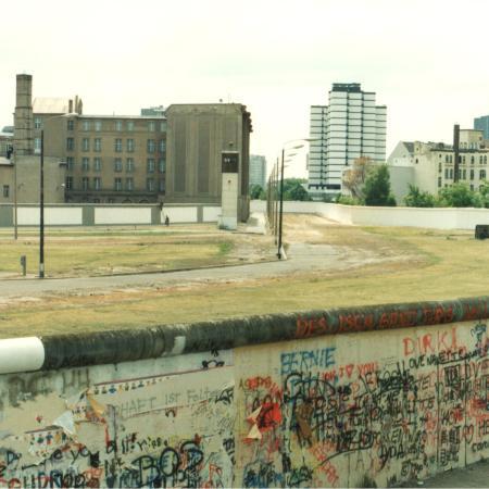 Berlin Wall looking across the Death Strip